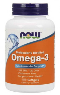 NOW Omega 3 1000 мг (30 кап)